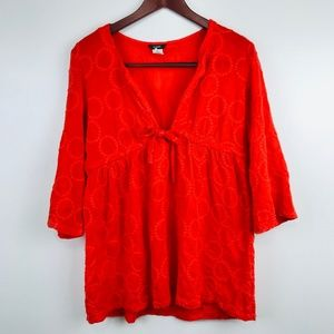 J Crew Embroidered Circle Dot Tunic Cover Up